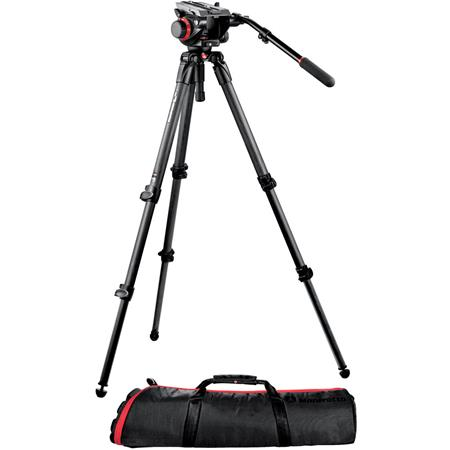 Manfrotto HD VD Fluid Video Head CF Tripod Legs Maximum Height Supports lbs 241 - 353