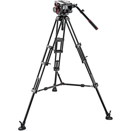 Manfrotto HD Video Head B Tripod Legs Mid Spreader and Padded Bag 285 - 356