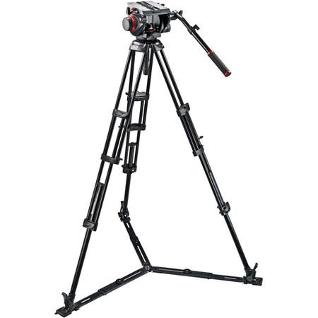 Manfrotto HD Video Head GB Tripod Legs Ground Spreader and Padded Bag 266 - 437