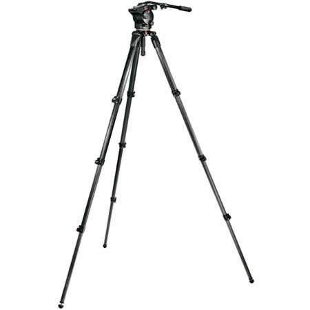 Manfrotto Video Kit Pro Fluid Video Head and Video Tripod Maximum Height Supports lbs 185 - 597