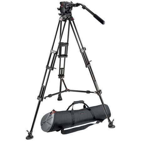 Manfrotto Video Kit Pro Fluid Video Head B Pro Video Tripod and MBAGP Tripod Bag Maximum Height Supp 158 - 13