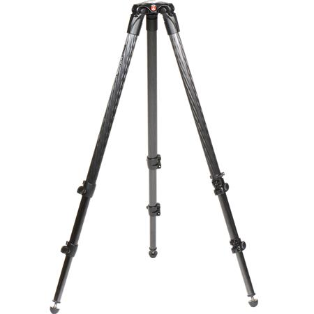 Manfrotto CF Stage Section Single Tube Video Tripod Maximum Height Supports lbs 151 - 412