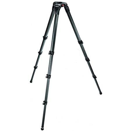 Manfrotto CF Stage Section Single Tube Video Tripod Maximum Height Supports lbs 135 - 55