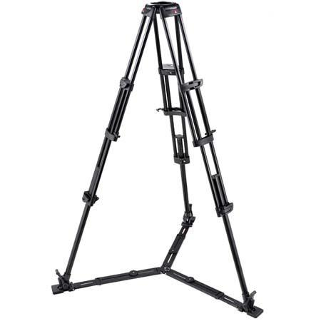 Manfrotto GB Stage Section Twin Leg Lightweight Aluminum Professional Video Tripod Floor Level Sprea 121 - 389