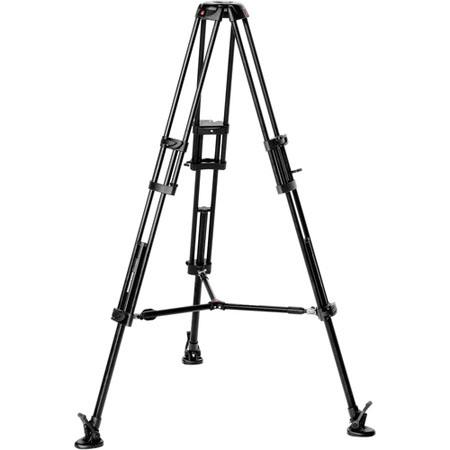 Manfrotto B Aluminum Professional Video Tripod Mid Level Spreader Supports lbs Maximum Height  301 - 357