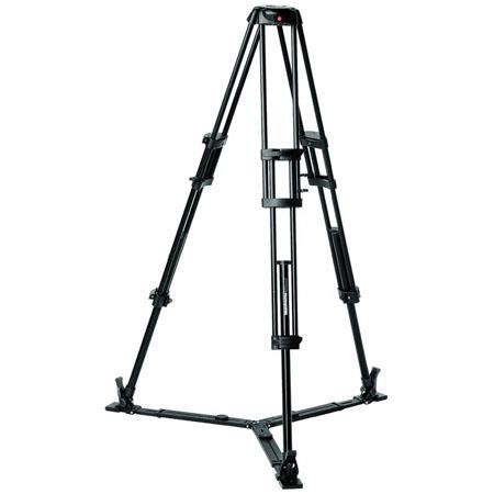 Manfrotto GB Aluminum Professional Video Tripod Ground Spreader Supports lbs Maximum Height  202 - 139