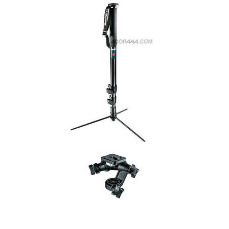 Manfrotto B Self Standing Pro Monopod Anodized D Junior Head 67 - 133
