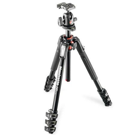 Manfrotto Aluminum Section Tripod Kit RC Ball Head Horizontal Column MaHeight Supports lbs 96 - 161