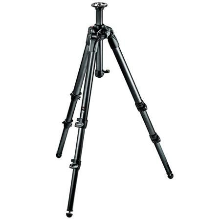 Manfrotto Section Carbon Fiber Tripod Rapid Column MaHeight Supports lbs 224 - 175