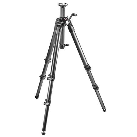 Manfrotto Section Carbon Fiber Tripod Geared Column MaHeight Supports lbs 122 - 643