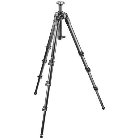 Manfrotto Section Carbon Fiber Tripod Rapid Column MaHeight Supports lbs 209 - 84