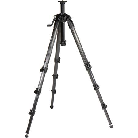 Manfrotto Section Carbon Fiber Tripod Geared Column MaHeight Supports lbs 130 - 258