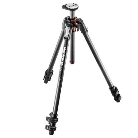 Manfrotto Carbon Fiber Section Tripod Horizontal Column MaHeight Supports lbs 218 - 29