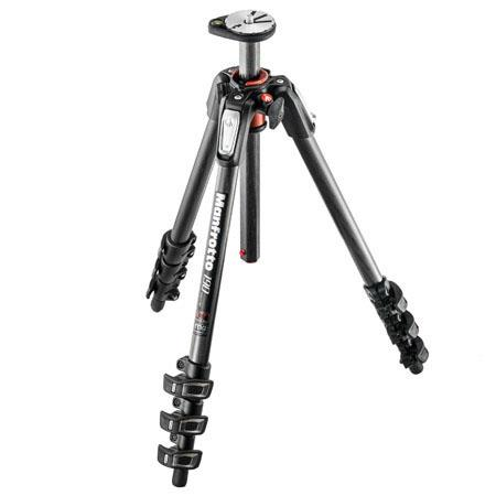 Manfrotto Carbon Fiber Section Tripod Horizontal Column MaHeight Supports lbs 241 - 224