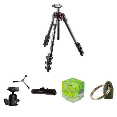Manfrotto Carbon Fiber Section Tripod Horizontal Column MaHeight Bundle Bogen Compact Ball Head WRC  181 - 59