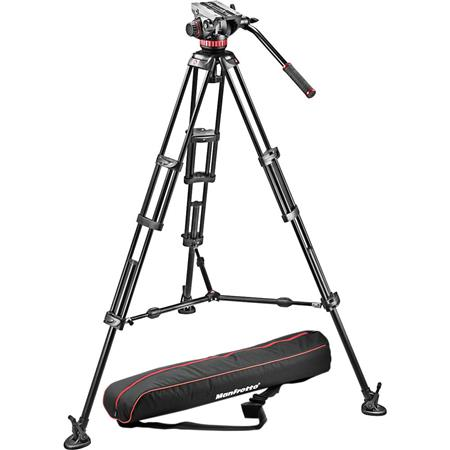 Manfrotto MVHA Pro Video Head B Aluminum Tripod Legs Maximum Height Supports lbs 117 - 16