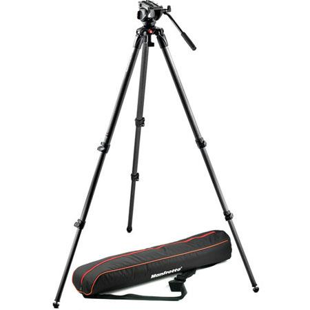 Manfrotto MVKC Professional Fluid Video System Carbon Single Legs lbs Load Capacity Maximum Height 117 - 16