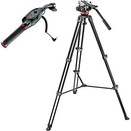 Manfrotto MVHA Fluid Head and MVTAM Tripod System Carrying Bag lbs Capacity Bundle Manfrotto RC Stan 57 - 755
