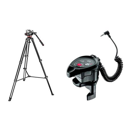 Manfrotto MVHA Fluid Head and MVTAM Tripod System Carrying Bag lbs Capacity Bundle Manfrotto RC Clam 49 - 135
