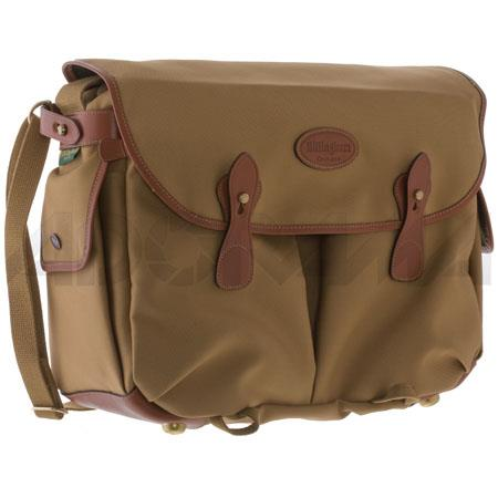 Billingham Photo Packington Notebook Camera Shoulder Bag Khaki Tan Leather Trim and Brass Fittings 124 - 434