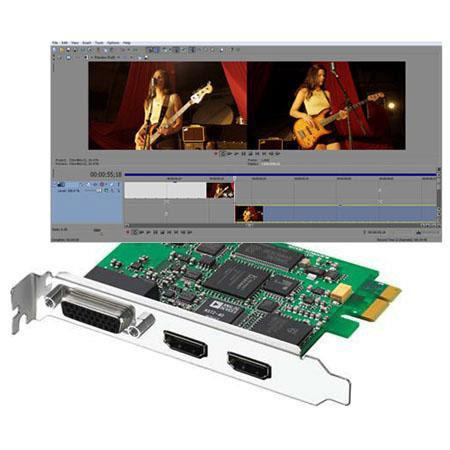 Blackmagic Design Intensity Pro HDMI Editing Card PCI Express Bundle Sony Vegas Pro Video Editing So 169 - 76