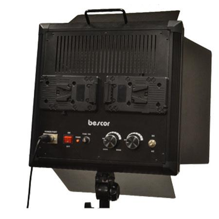 Bescor LED Bi Color Studio Lighting System Portable DC Power Kit 54 - 509