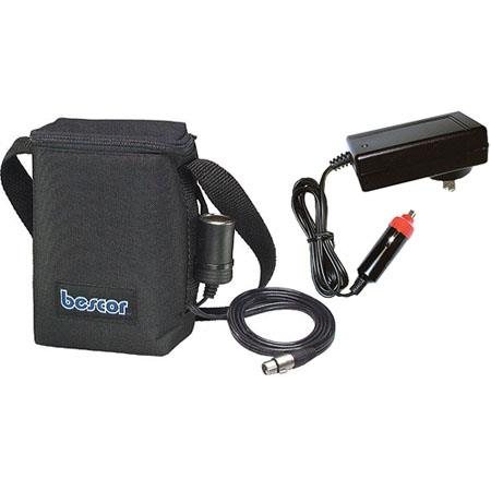 Bescor Amp Shoulder Battery Pack One Cigarette One Pin XLR Output Charger 308 - 228