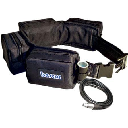 Bescor Pouch Battery Belt Cigarette XLR Power Connector Without Charger 94 - 243