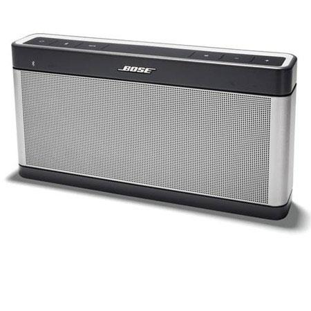 Bose SoundLink Bluetooth Speaker III Up to Wireless Range Micro USB Silver 208 - 367