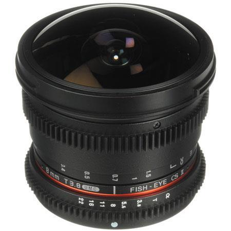 Bower T Fisheye HD Cine Lens Sony A DSLR Mount 167 - 272