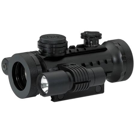 BSA Opticsmm Stealth Tactical Series Riflescope Matte Illuminated Dot Reticle Flashlight Laser Stand 117 - 271