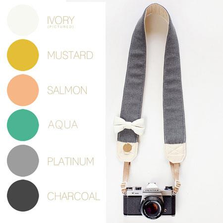 Bloom Theory All About The Beaus Fashion Camera Strap Charcoal 148 - 621