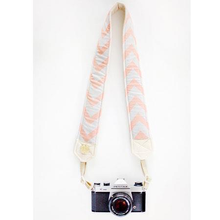 Bloom Theory Chevron Fashion Camera Strap Peach 94 - 383