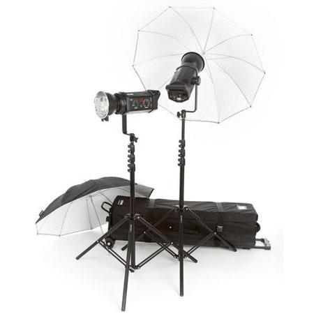 Bowens Gemini RR Studio Kit Two watt Second Monolights Umbrellas Stands Carry Bag Includes Pulsar TX 115 - 438