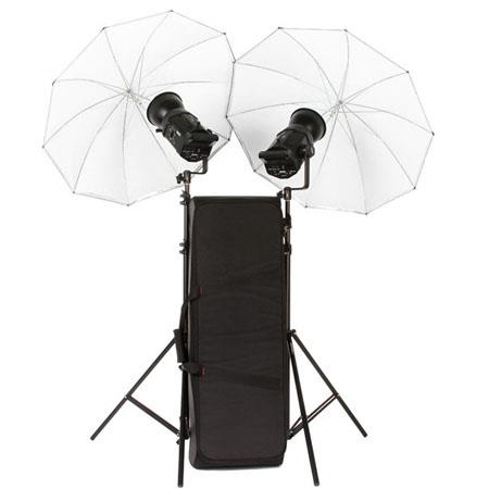 Bowens GEMINI RHead Monolight Kit Umbrellas Stands Lamps Reflectors Kit Case 446 - 187
