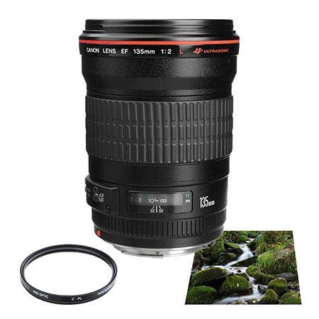 Canon EF fL USM AutoFocus Telephoto Lens USA Advanced Kit B W Circular Polarizer Multi Coated Filter 290 - 334