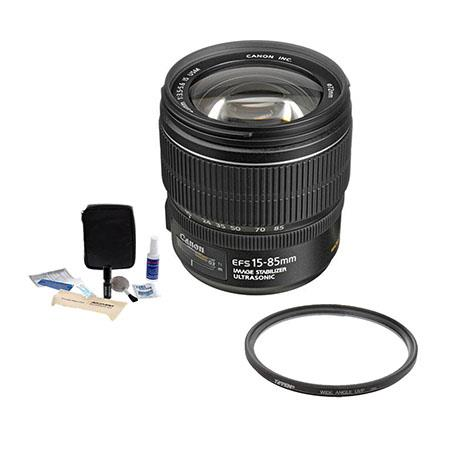Canon EF S f USM IS Image Stabilized AF Lens kit USA Warranty Tiffen UV Wide Angle Filter Digital Ca 107 - 508