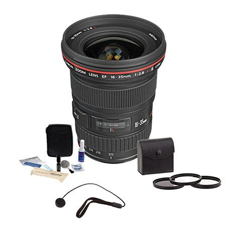 Canon EF fL USM Ultra Wide Angle Zoom Lens Kit Canon USA Warranty Tiffen Photo Essentials Filter Kit 123 - 756