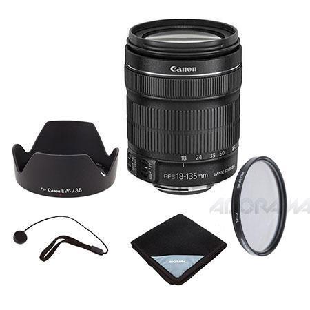 Canon EF S f IS STM Lens Bundle Pro Optic MM MC UV Filter Pro Optic Lens Wrap Lens Hood Type EW B Ca 162 - 58