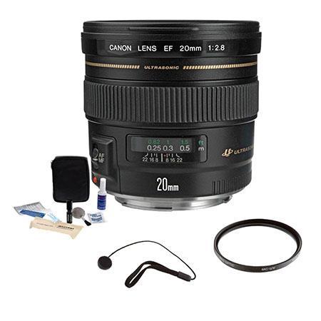 Canon EF f USM AF Ultra Wide Angle Lens Kit USA Tiffen UV Wide Angle Filter Lens Cap Leash Professio 127 - 664