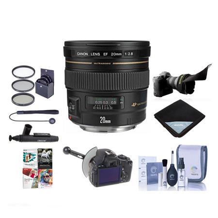 Canon EF f USM AF Ultra Wide Angle Lens Kit USA Bundle Pro Optic MM Essentials Filter Kit New Leaf Y 79 - 730
