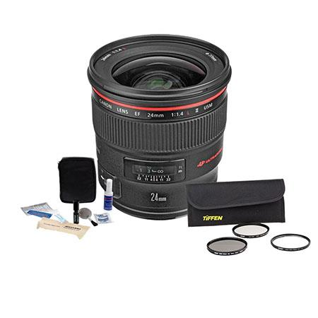 Canon EF fL USM AutoFocus Wide Angle Lens Kit USA Tiffen Wide Angle Filter Kit Professional Lens Cle 148 - 333