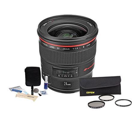 Canon EF fL USM AutoFocus Wide Angle Lens Kit USA Tiffen Wide Angle Filter Kit Professional Lens Cle 228 - 535