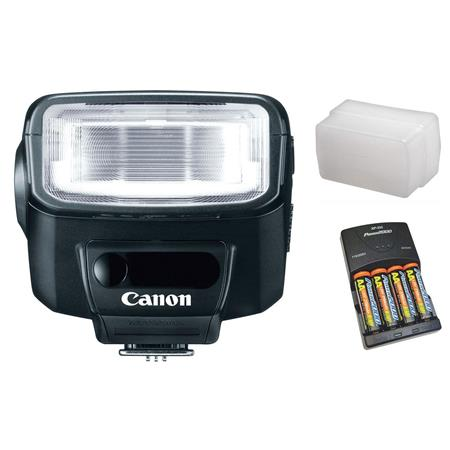 Canon Speedlite EX Flash Basic Outfit NiMH Batteries Charger Sto Fen Omni Bounce 100 - 697
