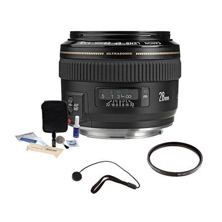 Canon EF f USM AutoFocus Wide Angle Lens kit USA Pro Optic MC UV Filter Lens Cap Leash Professional  120 - 268