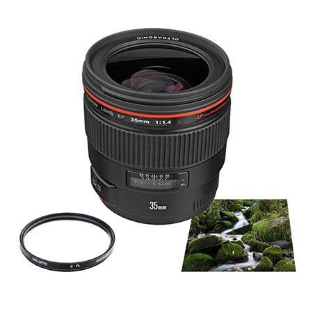 Canon EF fL USM AutoFocus Wide Angle Lens USA Advanced Kit B W Circular Polarizer Multi Coated Filte 176 - 44