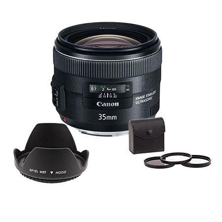 Canon EF f IS USM Lens USA Bundle Filter Kit UV CP ND Wide Angle Lens Hood Petal Shaped 301 - 79