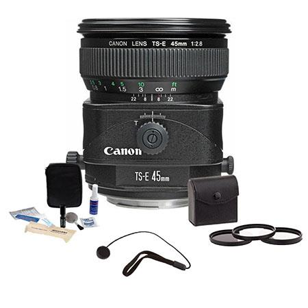 Canon TS E f Tilt and Shift Manual Focus Lens Kit USA Tiffen Photo Essentials Filter Kit Lens Cap Le 67 - 420