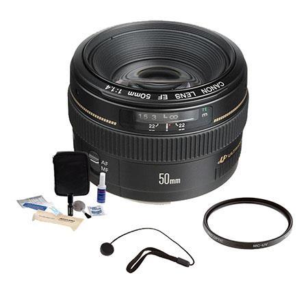 Canon EF f USM Standard AutoFocus Lens Kit USA Pro Optic MC UV Filter Lens Cap Leash Professional Le 268 - 459