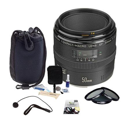 Canon EF f Macro AF Lens Kit USA Filter Kit New Leaf Year Drops Spills Warranty Lens Cap Leash Profe 142 - 389